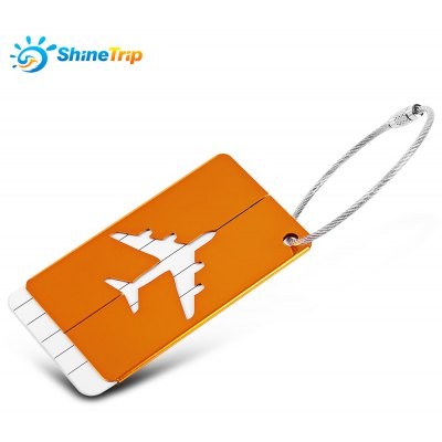 SHINETRIP 2pcs Luggage Tag Label for Suitcase