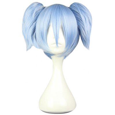 Harajuku Ice Blue Wig with 2 Ponytails Synthetic Hair