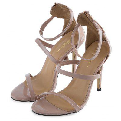 Strap Design Zipper High Heel Gladiator Women SandalsWomens Sandals<br>Strap Design Zipper High Heel Gladiator Women Sandals<br><br>Heel Height Range: High(3-3.99)<br>Heel Type: Stiletto Heel<br>Insole Material: Rubber<br>Lining Material: PU<br>Occasion: Party<br>Outsole Material: Rubber<br>Package Contents: 1 x Pair of Women Thin High Heel Sandals<br>Pumps Type: Gladiator<br>Season: Summer<br>Shoe Width: Medium(B/M)<br>Toe Shape: Pointed Toe<br>Toe Style: Open Toe<br>Upper Material: PU<br>Weight: 0.428kg