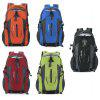 Guapabien Patchwork S Shape Mesh Strap Outdoor Portable Backpack - GREEN