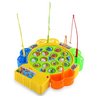 Kids Plastic Electronic Fishing Musical Rotating Toy