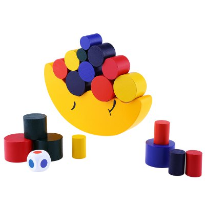 Wooden Moon Balance Blocks Toy