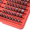100pcs Bit Screw Driver Washer Sleeve Combination - GRAY AND RED