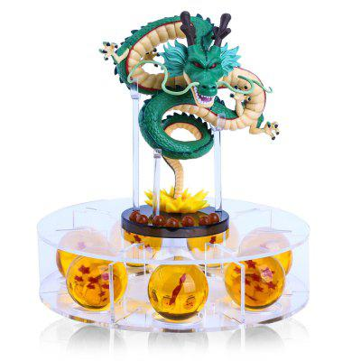 4.3CM Silicone Crystal Dragon Ball Action Figures with Shelf
