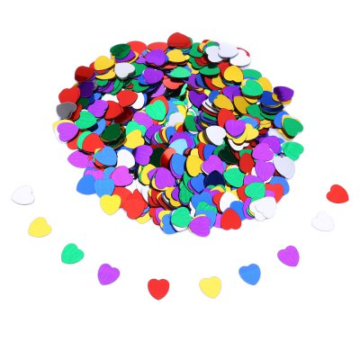 10MM Multicolor Romance Love Heart Confetti