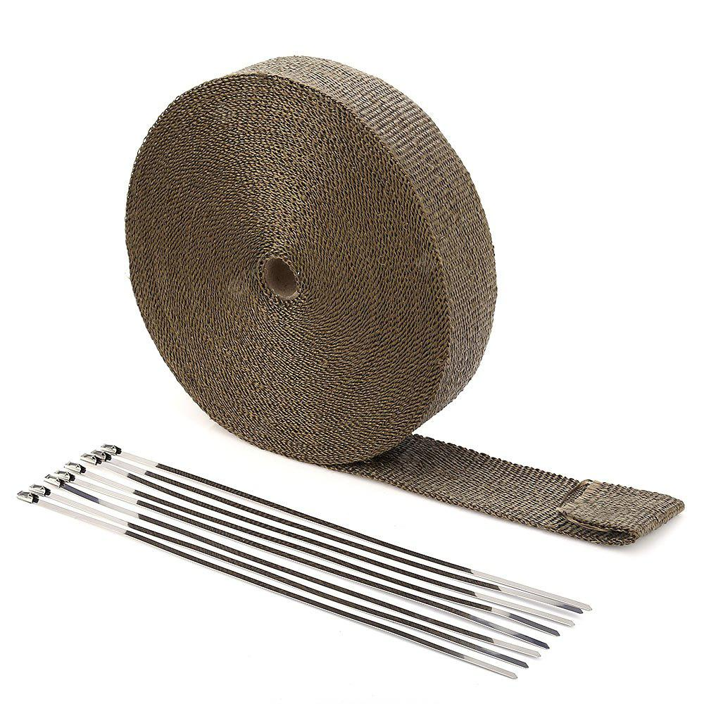 Car Titanium Exhaust Header Heat Wrap Tape