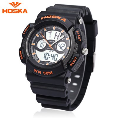 HOSKA HD004S Dual Movt Digital Quartz Children Sport Watch