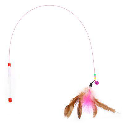 Pet Cat Feather Bell Teaser Wand Toy