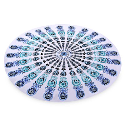 Printed Beach Towel Round Pad Mat Outdoor Equipment