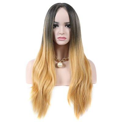 Women Ombre Long Curly Wavy Full Wigs