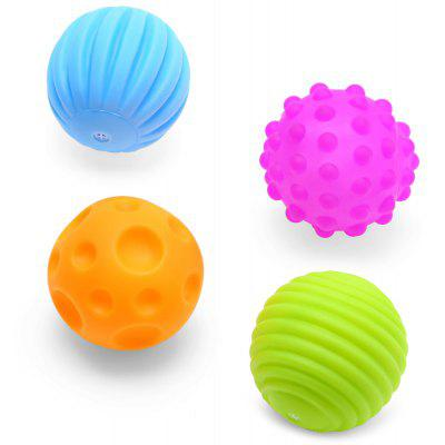 4pcs Baby Colorful Sounding Ball Toy