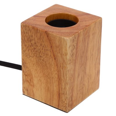 E27 Modern Minimalist Oak Wood Lamp Holder