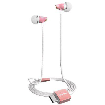 New Bee Type C Wired In-ear Earphones Headphones