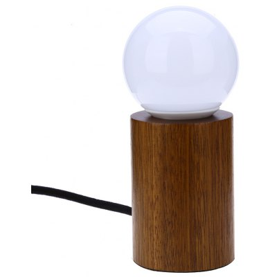 E27 Modern Minimalist Peach Wood Lamp with LED Bulb