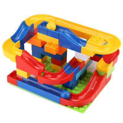 47pcs DIY Construction Marble Race Run Track Set