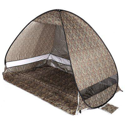 Buy LEOPARD PRINT PATTERN Quick Opening Beach Tent Shade Tabernacle Outdoor Tool for $16.31 in GearBest store