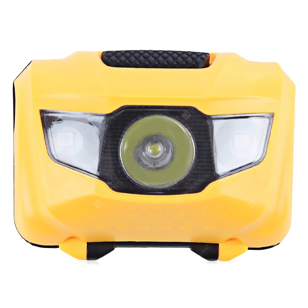 YELLOW 3-LED Bike Front Light Flash Rear Lamp Warning Equipment