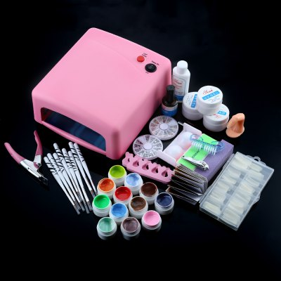 36W Cure Pink Lamp Dryer UV Gel Outils à ongles Full Set