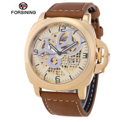 Buy GOLDEN Forsining F201672005 Male Auto Mechanical Watch for $26.67 in GearBest store