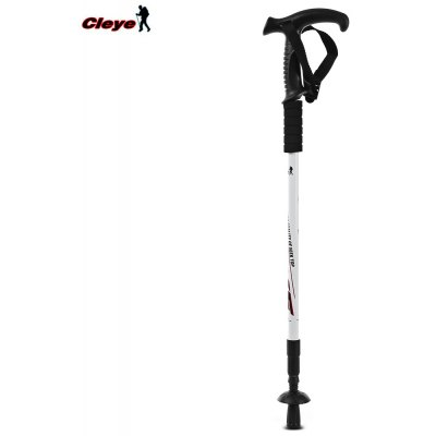 CLEYE Outdoor Adjustable Poles Hiking Walking Stick
