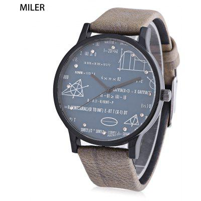 Buy KHAKI MILER A8292 Unisex Quartz Watch for $7.68 in GearBest store