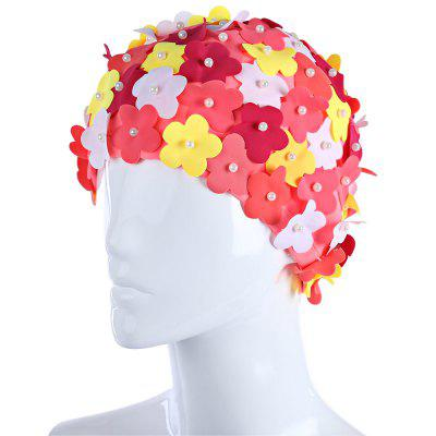 Three-dimension Petal Ear Cover Swimming Cap