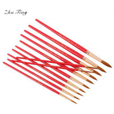 ZhuTing 12pcs Pointed Nylon Wool Acrylic Drawing Brush Pen