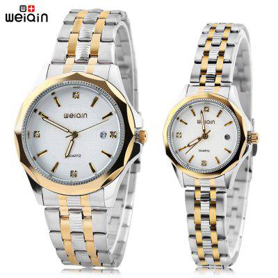 WEIQIN W00106 Couple Quartz Watch