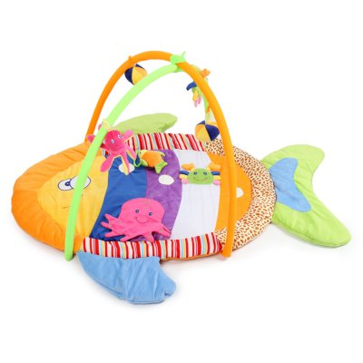 Baby Soft Play Mat Colorful Fish Gym Blanket