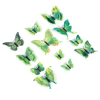 12pcs PVC 3D Butterfly Wall Decor Stickers
