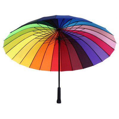 Fashion Straight Handlebar Colorful Rainbow Golf Umbrella