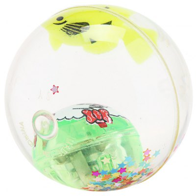 Kids Water-filled Flash Bouncing Ball Elastic Spark Light Toy