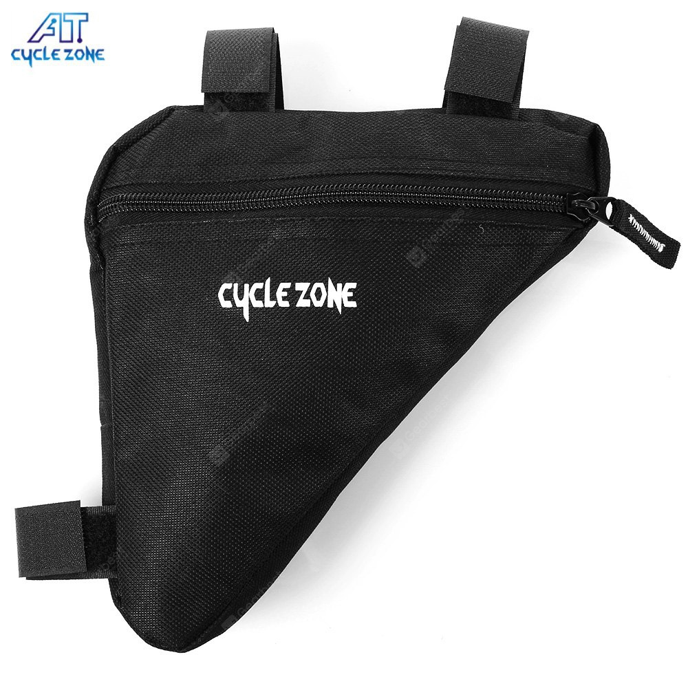 CYCLE ZONE Portable Mountain Bicycle Handlebar Triangle Bag BLACK