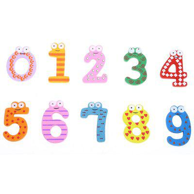 10pcs Number Wooden Fridge Magnet Child Educational Toy