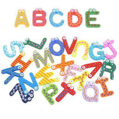 Alphabet Wooden Fridge Magnet Child Educational Toy