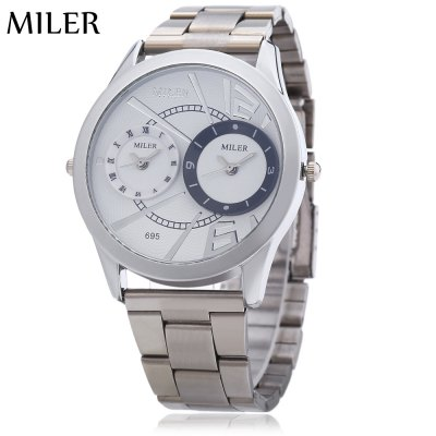 Miler A695 Men Dual Quartz Movt Watch