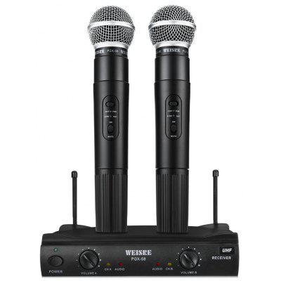 Buy BLACK WEISRE PGX 58 Professional UHF Mic System for $64.55 in GearBest store