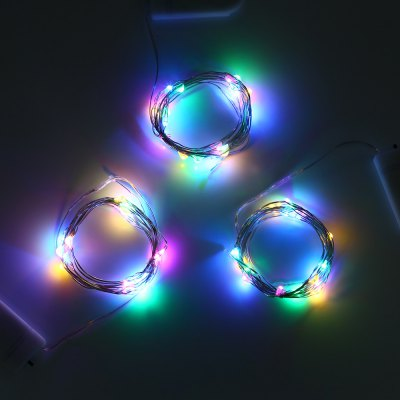 3pcs 2M 20 LEDs CR2032 Battery Mini String Light