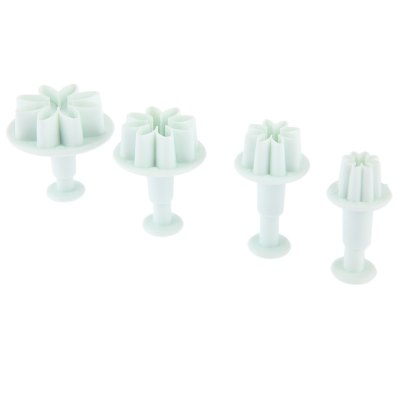 4pcs Sunflower Plunger Daisy Flower Cookie Mold