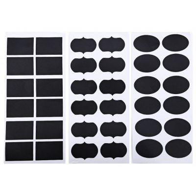 36pcs 3 Type PVC Chalkboard Label Mark Sticker
