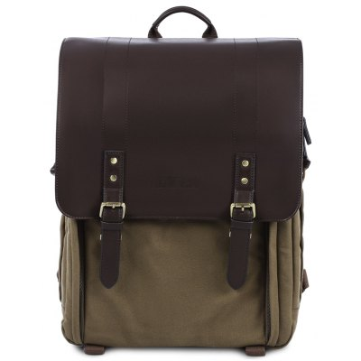 CADEN P5 Leather Shockproof Camera Bag Backpack for DSLR