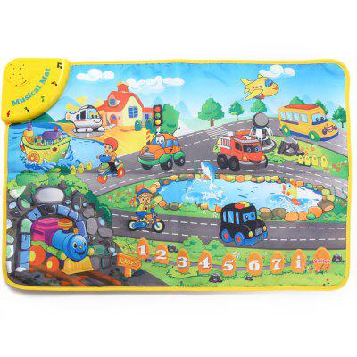 Kids Transportation Sound Learning Musical Play Mat Toy