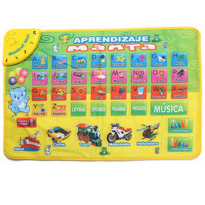 Kids Transportation Sound Spanish Version Alphabet Carpet
