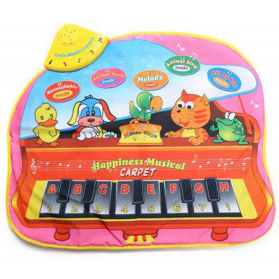 Kids Animal Sound Singing Piano Carpet Musical Play Mat