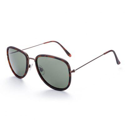 Polarized Oval Frame Male Sunglasses