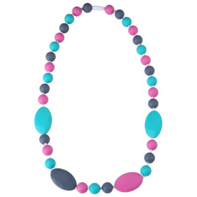 Safety Silica Gel Material Babies Teether Necklace Toys