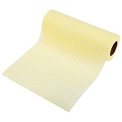 Buy YELLOW 50pcs Disposable Non-woven Kitchen Cleaning Wipe for $2.45 in GearBest store