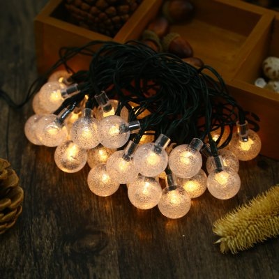 Bubble Shaped 8 Modes 30 LEDs Solar Powered String Light