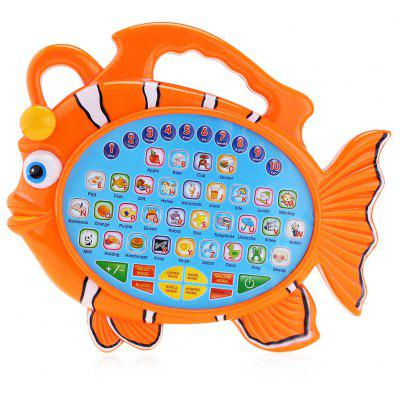 KUNSHENG Kids Fish Music Learning Machine Alphabet Board