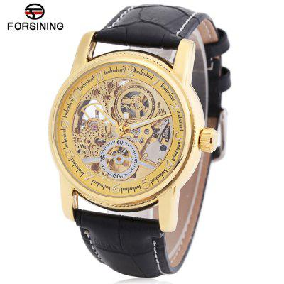 Buy BLACK AND GOLDEN Forsining F042603 Men Auto Mechanical Watch for $24.41 in GearBest store
